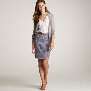 J.Crew Bellflower Tweed Pencil Skirt purple blends